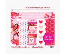 Craft Smith Be My Valentine 12x12 Inch Paper Pad (MSE5200)
