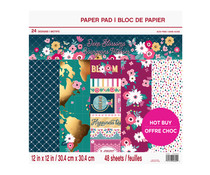 Craft Smith Deep Blossoms 12x12 Inch Paper Pad (MSE5201)