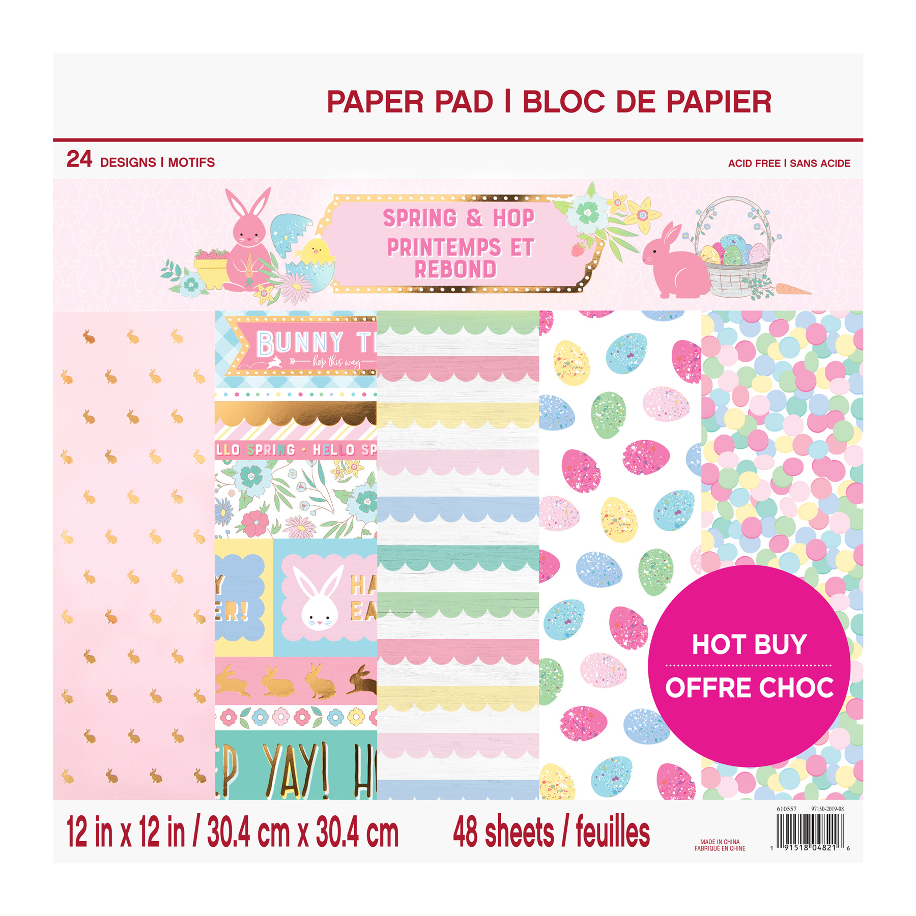 """Trimcraft DOVECRAFT 6/"""" x 6/"""" Paper Pad ~ PAINTED BLOOMS 48 Sheets"""