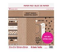 Craft Smith Kraft Basics 12x12 Inch Paper Pad (MSE5205)