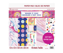 Craft Smith Shake it Chic 12x12 Inch Paper Pad (MSE5209)