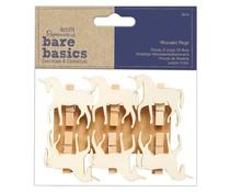 Papermania Bare Basics Wooden Pegs Unicorns (6pcs) (PMA 174528)