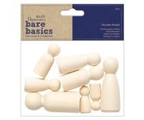Papermania Bare Basics Wooden People Family (8pcs) (PMA 174533)