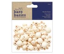 Papermania Bare Basics Wooden Round Beads (120pcs) (PMA 174536)
