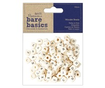 Papermania Bare Basics Wooden Alpha Beads (100pcs) (PMA 174537)