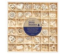 Papermania Bare Basics Wooden Shapes Mixed (180pcs) (PMA 174551)