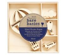Papermania Bare Basics Wooden Shapes Hot Air Balloon (20pcs) (PMA 174745)