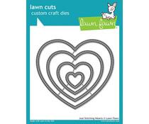 Lawn Fawn Just Stitching Hearts Dies (LF2175)