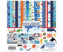 Carta Bella Fish Are Friends 12x12 Inch Collection Kit (CBFAF111016)