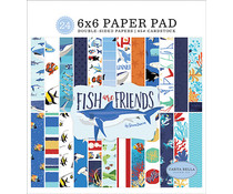 Carta Bella Fish Are Friends 6x6 Inch Paper Pad (CBFAF111023)