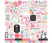Echo Park It's Your Birthday Girl 12x12 Inch Element Sticker (TBG200014)