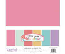 Echo Park It's Your Birthday Girl  12x12 Inch Coordinating Solids Paper Pack (TBG200015)