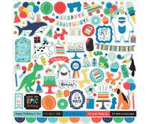 Echo Park It's Your Birthday Boy 12x12 Inch Element Sticker (YBB201014)