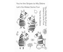 My Favorite Things Zippy Zebras Clear Stamps (CS-448)