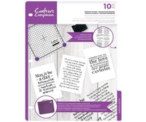 Crafter's Companion Wedding Wishes Clear Stamps (CC-CA-ST-WED)