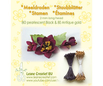 Leane Creatief Stamens Black & Antique Gold (26.6623)