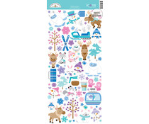 Doodlebug Design Winter Wonderland Icons Stickers (6560)