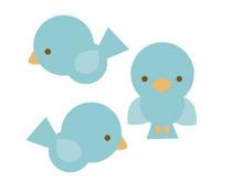 Doodlebug Design Birdies Sweet Rolls Mini Icons Stickers (100pcs) (5154)