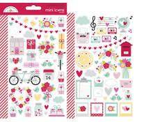 Doodlebug Design Love Notes Mini Icons Sticker (6583)