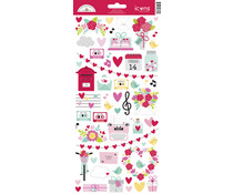Doodlebug Design Love Notes Icons Sticker (6606)