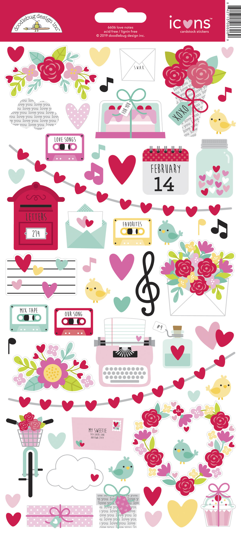 Live Laugh Love in Heart Planner Calendar Scrapbooking Crafting Stickers