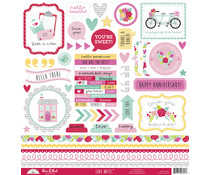 Doodlebug Design Love Notes This & That Stickers (6607)
