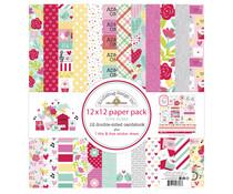 Doodlebug Design Love Notes 12x12 Inch Paper Pack (6608)