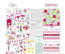Doodlebug Design Love Notes 12x12 Inch Essentials Kit (6611)