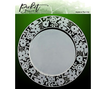 Picket Fence Studios Rings of Flowers Stencil (SC-122)