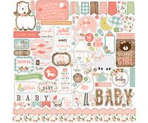 Echo Park Baby Girl 12x12 Inch Element Sticker (BAG202014)