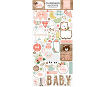 Echo Park Baby Girl 6x13 Inch Chipboard Accents (BAG202021)