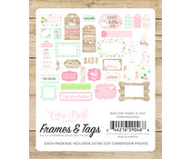 Echo Park Baby Girl Frames & Tags (BAG202025)