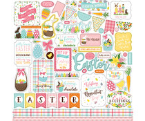 Echo Park I Love Easter 12x12 Inch Element Sticker (LEA205014)