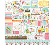 Echo Park I Love Spring 12x12 Inch Element Sticker (LSP204014)