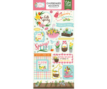 Echo Park I Love Spring 6x13 Inch Chipboard Accents (LSP204021)