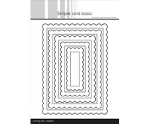 Simple and Basic Scalloped Rectangles Dies (SBD067)