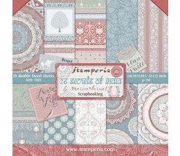 Stamperia 26 Secrets of India 12x12 Inch Paper Pack (SBBL71)
