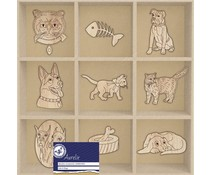 Aurelie Cats & Dogs Wooden Ornaments (AUWO1003)