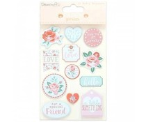 Dovecraft Paper Posies Puffy Stickers (DCSTK089)
