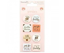 Dovecraft Paper Posies Sentiment Toppers (DCTOP165)