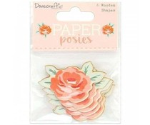 Dovecraft Paper Posies Wooden Shapes Roses (DCWDN099)