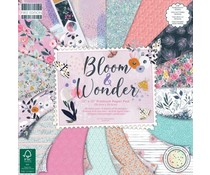 First Edition Bloom and Wonder 12x12 Inch Paper Pad (FEPAD224)