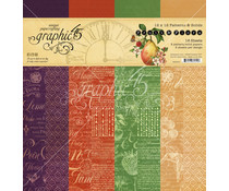 Graphic 45 Fruit & Flora 12x12 Inch Patterns & Solids Paper Pad (4502001)