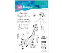 Spellbinders Giraffe Wisdom Clear Stamps (JDS-053)