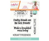 Crafter's Companion Crafty Fun Craft Life Clear Stamps (S-CF-ST-CRLI)