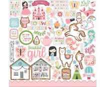 Echo Park All Girl 12x12 Inch Element Sticker (ALG206014)