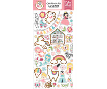 Echo Park All Girl 6x13 Inch Chipboard Accents (ALG206021)