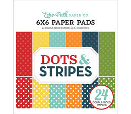 Echo Park Dots & Stripes Summer 6x6 Inch Paper Pad (DS20035)