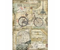 Stamperia Rice Paper A4 Bicycle (DFSA4458)