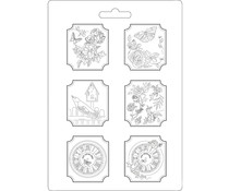 Stamperia Soft Mould A4 Plaquettes House of Roses (K3PTA465)